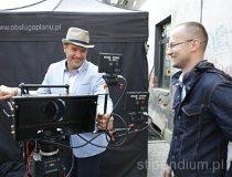 """Gliwice. Plan zdjęciowy do filmu """"Klub włóczykijów"""". Prace rozwojowe ROS3D (fot. Mario Suze)"""