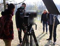 """Plan zdjęciowy w Łodzi w Parku """"Na Zdrowiu"""" (fot. Instytut Nauki i Techniki Stipendium)"""