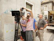 """Gliwice. Plan zdjęciowy do filmu """"Klub włóczykijów"""". Prace rozwojowe ROS3D (fot. Jakub Urbański)"""